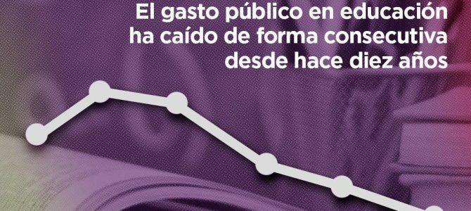 El bipartidismo entre PP y PSOE ha llevado al desmantelamiento de la educación pública